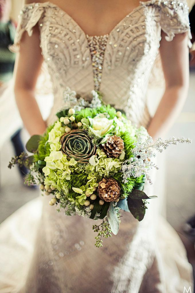 Bridal Bouquets by Natural Art Flowers and Decors - 006
