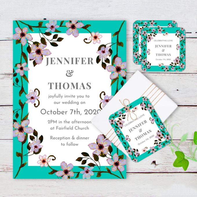 Chinois Mural Wedding Invitation by Gift Elements - 001