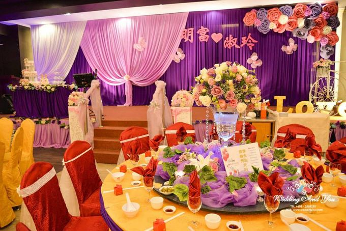 Stage Backdrop Design by Wedding And You - 034