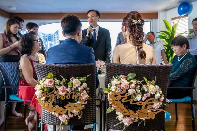 Chris & Candy - A Yacht Wedding by ONE°15 Marina Sentosa Cove, Singapore - 030