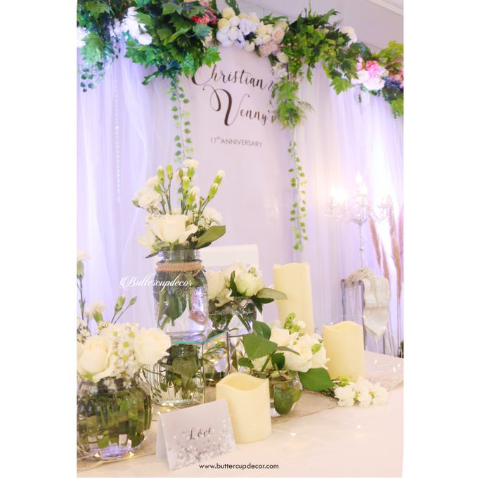 Christian & Venny s 17th Wedding Anniversary by Buttercup Decoration - 002