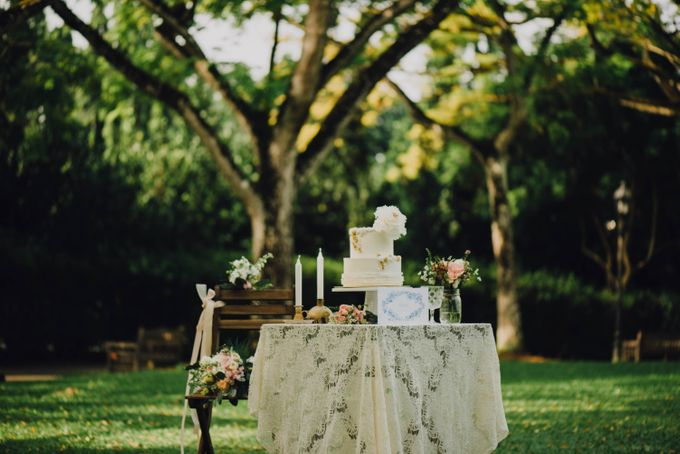 Beauty and the Beast Garden Wedding by Baby Cakes - 003