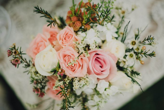 Beauty and the Beast Garden Wedding by Blossoms Bridal & Occasions - 006