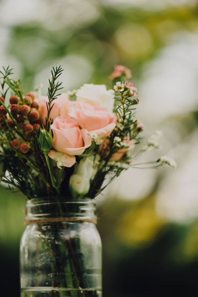 Beauty and the Beast Garden Wedding by Blossoms Bridal & Occasions - 007