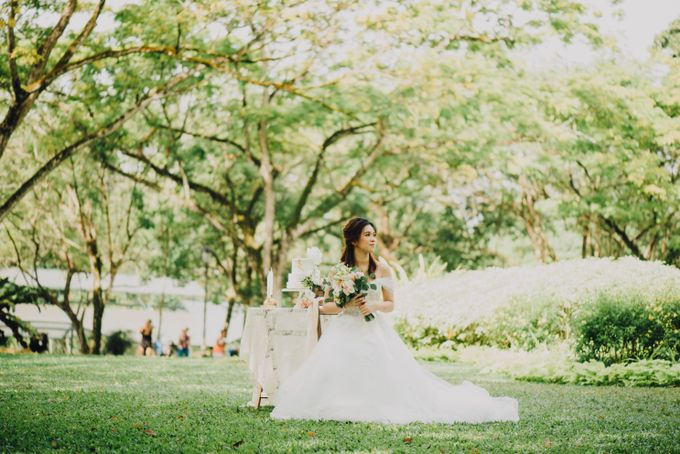 Beauty and the Beast Garden Wedding by Blossoms Bridal & Occasions - 009