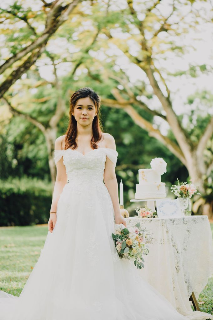 Beauty and the Beast Garden Wedding by Blossoms Bridal & Occasions - 011