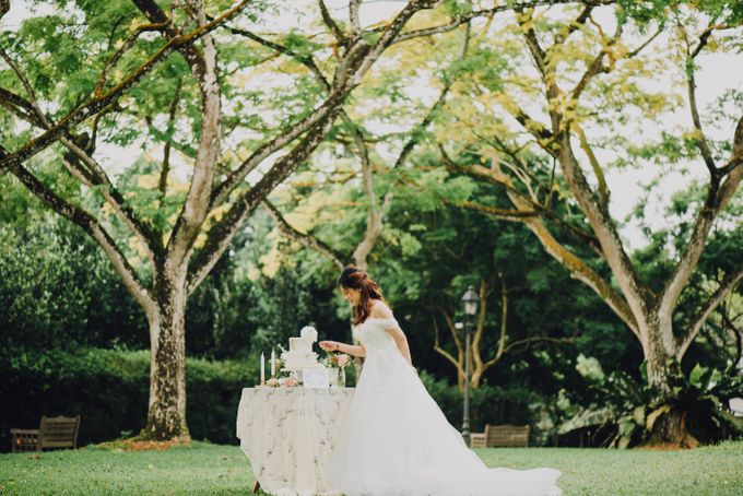 Beauty and the Beast Garden Wedding by Blossoms Bridal & Occasions - 014
