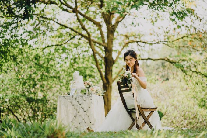 Beauty and the Beast Garden Wedding by Blossoms Bridal & Occasions - 018