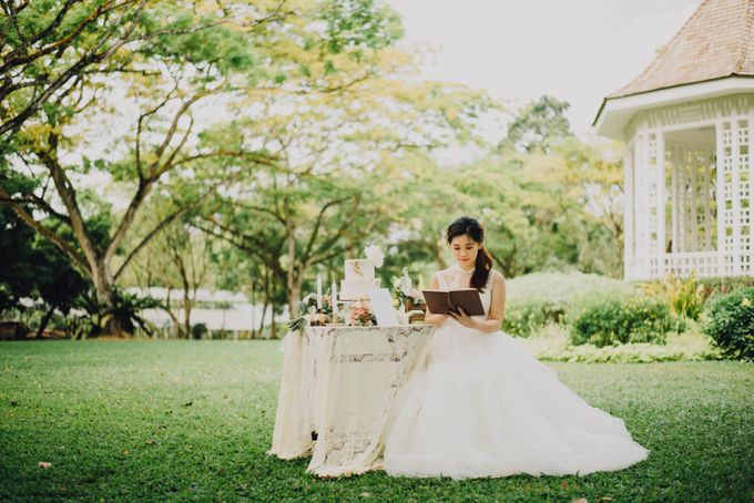 Beauty and the Beast Garden Wedding by Blossoms Bridal & Occasions - 024
