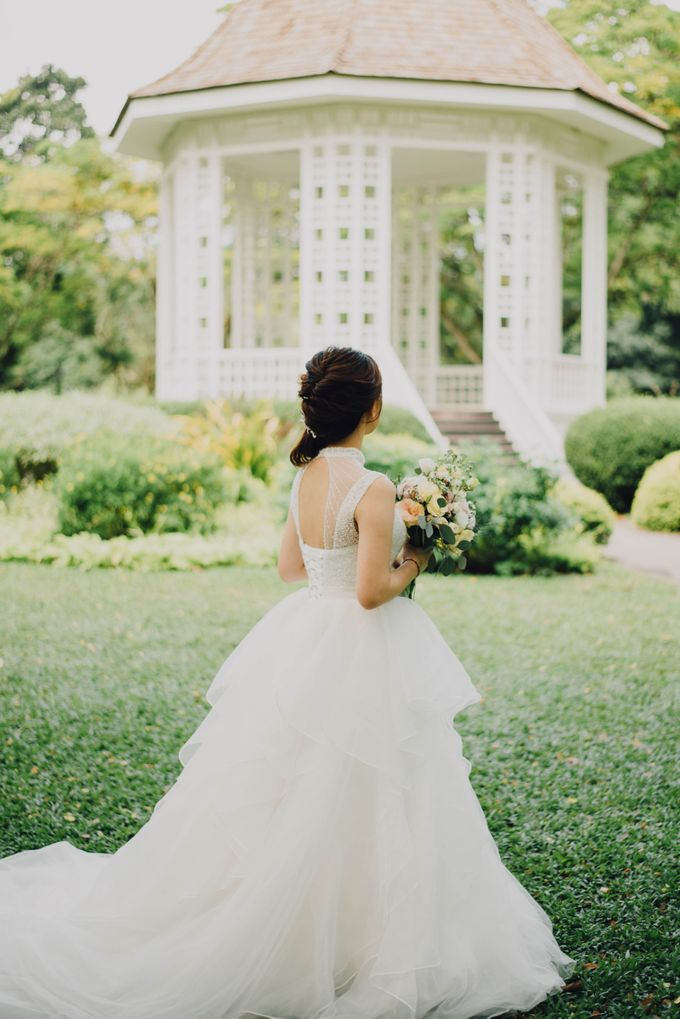 Beauty and the Beast Garden Wedding by Blossoms Bridal & Occasions - 029