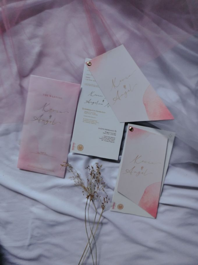 Kevin & Angel Hard Board Slide + Vellum Envelope by Keeano Project - 002