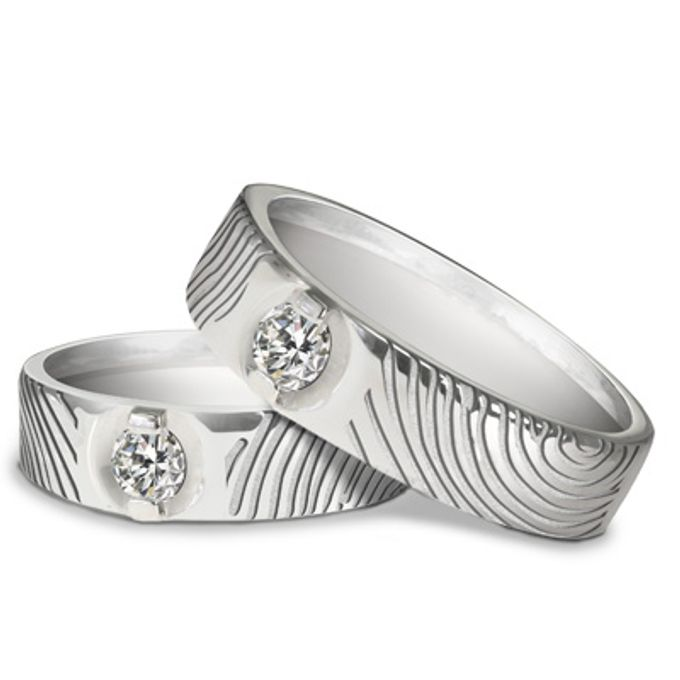 wedding ring engrave & finger print d'sign by V&Co Jewellery - 001