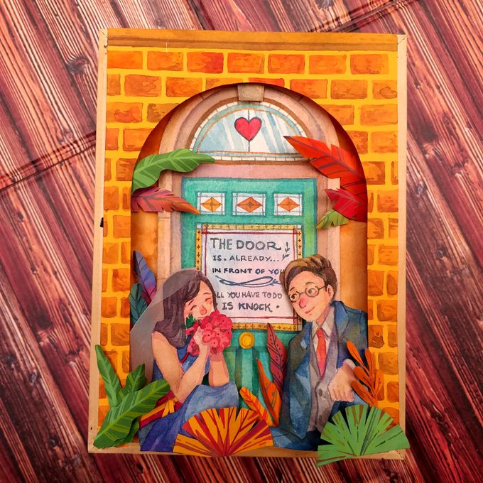 Shadowbox for Wedding Centrepiece by Kayu Manis Handmade - 001