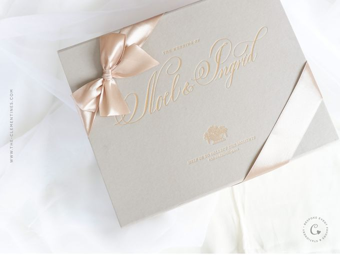 Noel ingrid vvip invitation box by the clementines bridestory add to board noel ingrid vvip invitation box by veronica halim calligraphy 001 stopboris Image collections