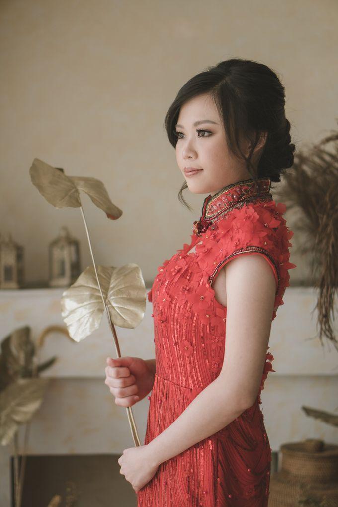 Crimson Bloom Engagement Dress By Cava Atelier