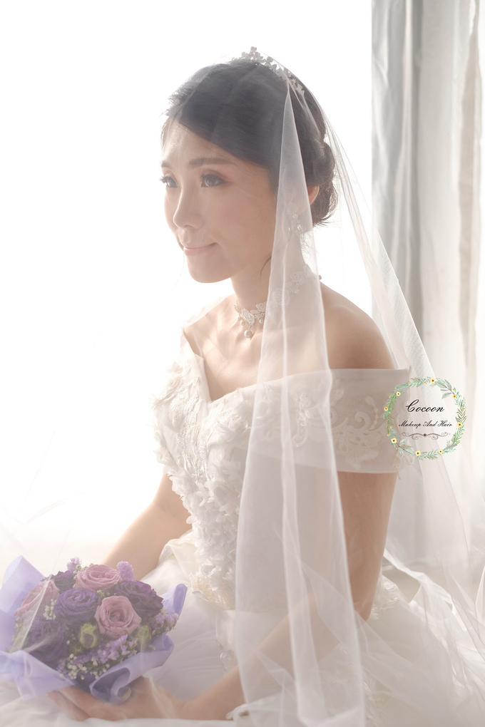 Snowy BatAm Wedding day by Cocoon makeup and hair - 002