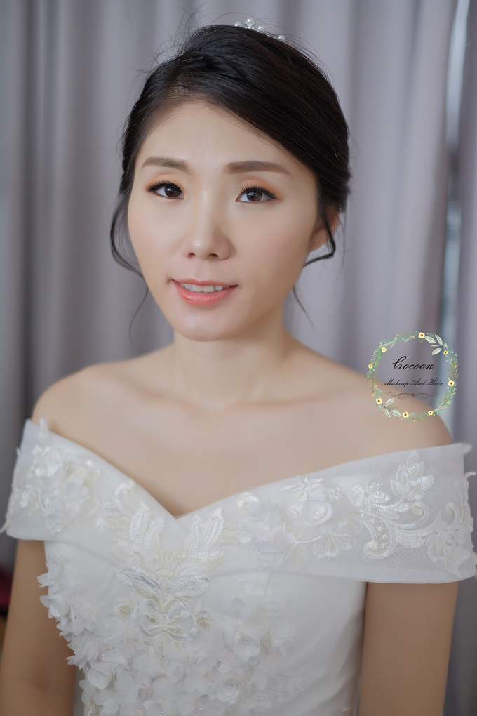 Snowy BatAm Wedding day by Cocoon makeup and hair - 001