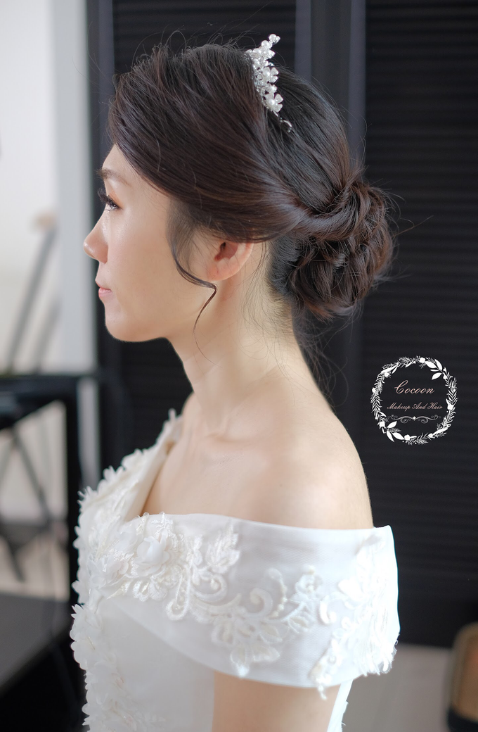 Snowy BatAm Wedding day by Cocoon makeup and hair - 008