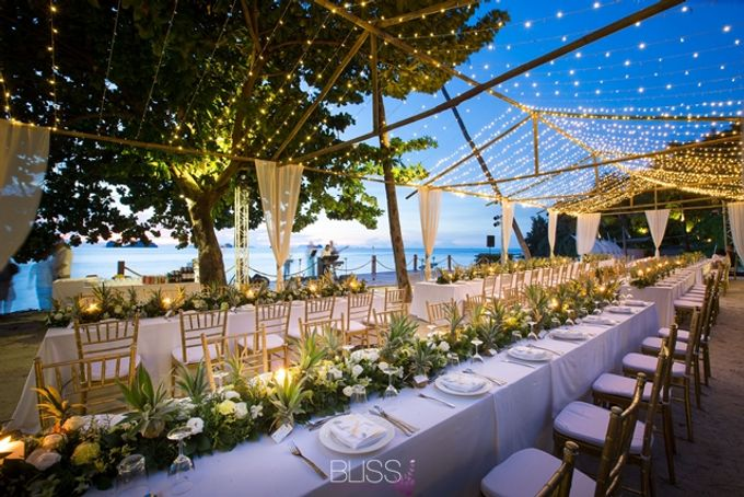 Welcome dinner on the beach tropical theme by BLISS Events & Weddings Thailand - 001