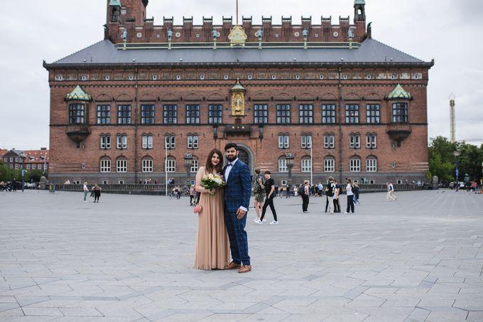Copenhagen City Hall Wedding Elopement during COVID-19 by Ieva Vi Photo by Ieva Vi Photography - 001
