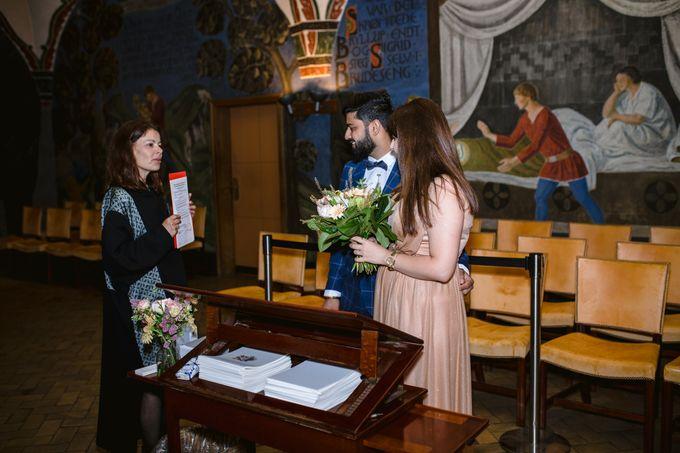 Copenhagen City Hall Wedding Elopement during COVID-19 by Ieva Vi Photo by Ieva Vi Photography - 010
