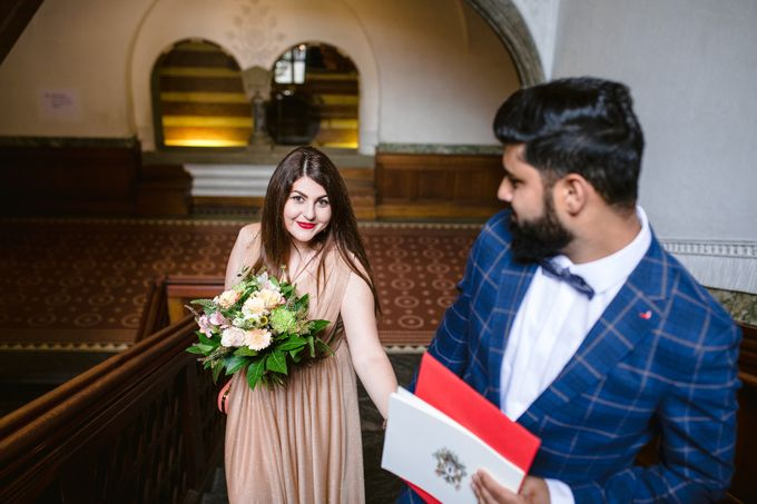 Copenhagen City Hall Wedding Elopement during COVID-19 by Ieva Vi Photo by Ieva Vi Photography - 012