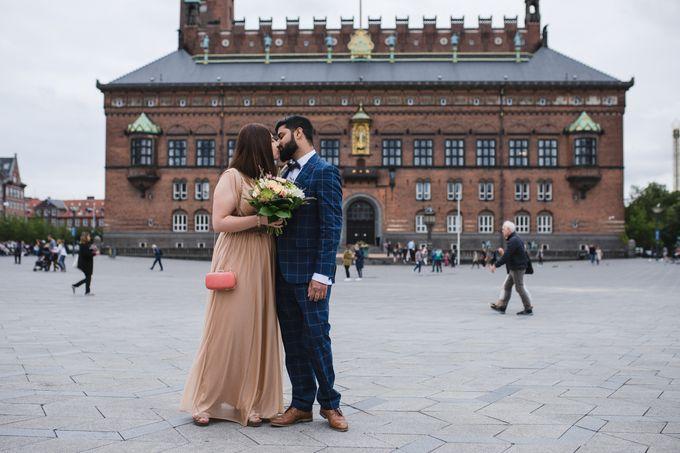 Copenhagen City Hall Wedding Elopement during COVID-19 by Ieva Vi Photo by Ieva Vi Photography - 002