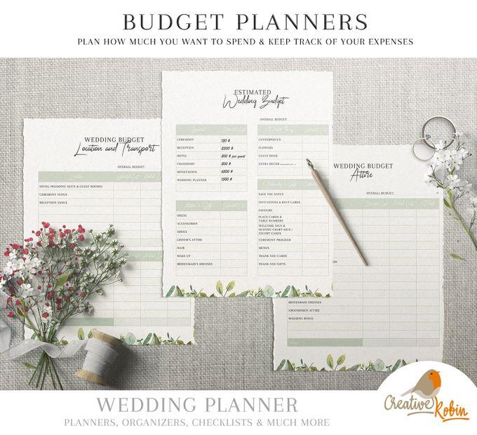 Printable Wedding Planner | Wedding Organizer | Bridesmaid Planner | Bride Planner | Wedding Checklist | 135 Pages Printable Planner by CreativeRobin - 007