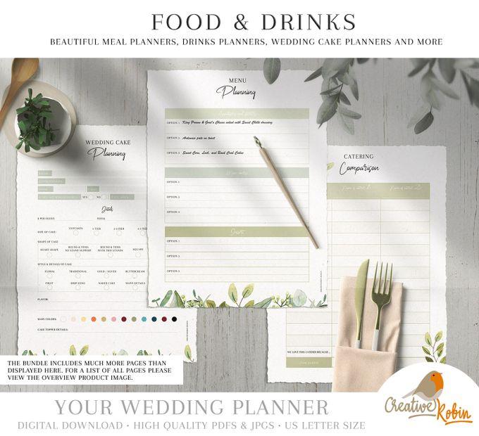 Printable Wedding Planner | Wedding Organizer | Bridesmaid Planner | Bride Planner | Wedding Checklist | 135 Pages Printable Planner by CreativeRobin - 006