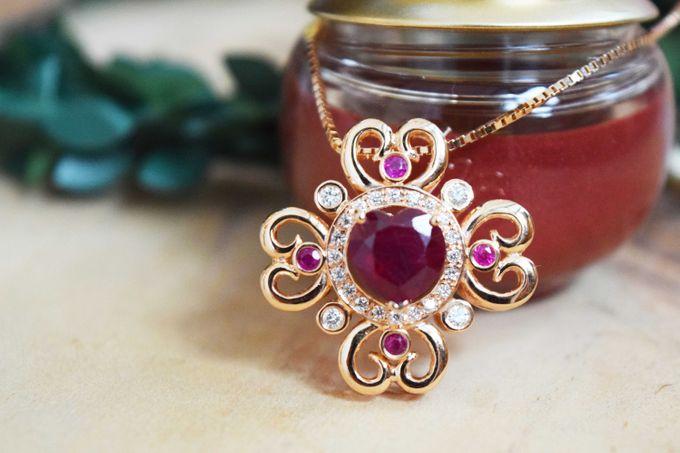 Crimson Fleur Pendant by Vault Fine Jewellery - 003