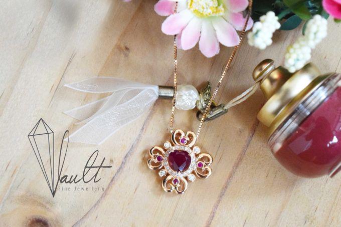 Crimson Fleur Pendant by Vault Fine Jewellery - 001