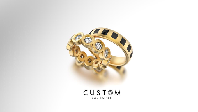 Wedding bands catalog his and hers by Custom Solitaires, LLC - 002