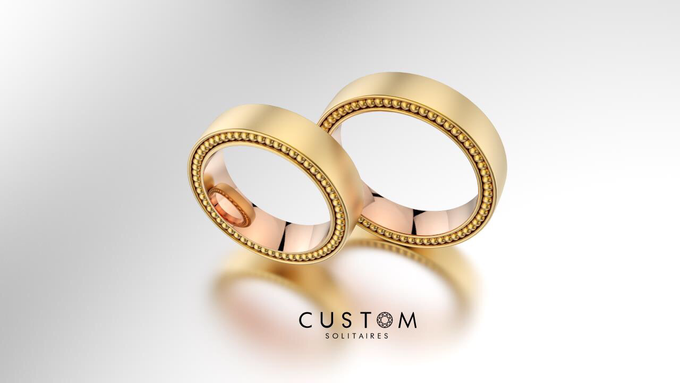 Wedding bands catalog his and hers by Custom Solitaires, LLC - 001