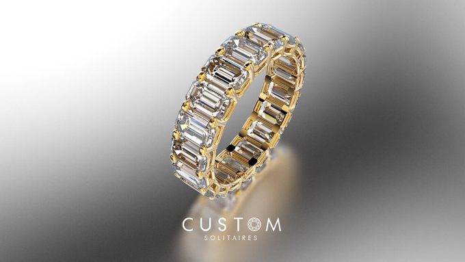 Wedding bands catalog his and hers by Custom Solitaires, LLC - 004