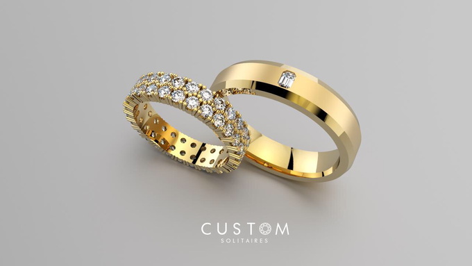 Wedding bands catalog his and hers by Custom Solitaires, LLC - 003