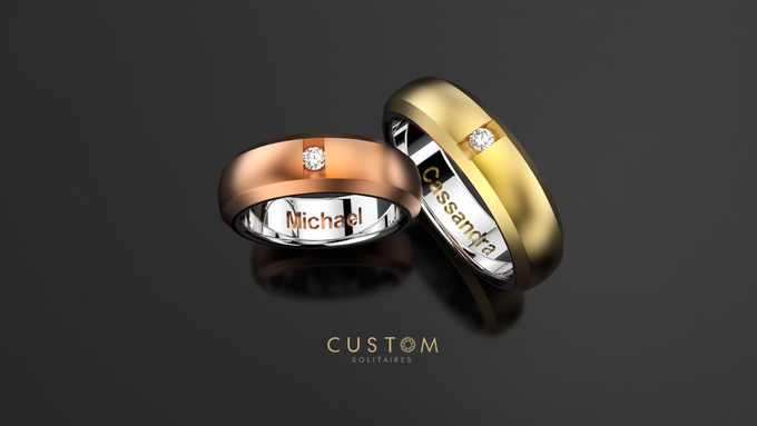 Wedding bands catalog his and hers by Custom Solitaires, LLC - 010
