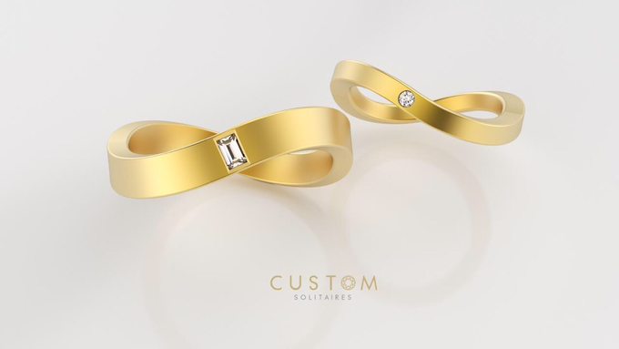 Wedding bands catalog his and hers by Custom Solitaires, LLC - 011