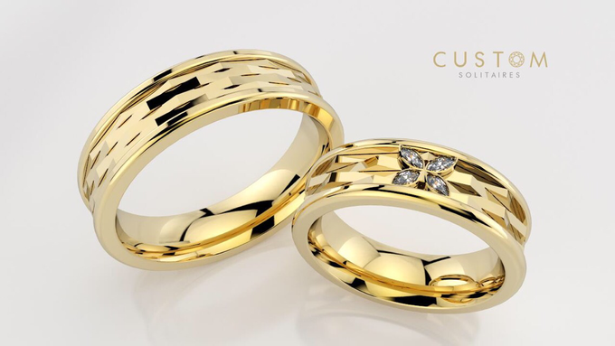 Wedding bands catalog his and hers by Custom Solitaires, LLC - 012