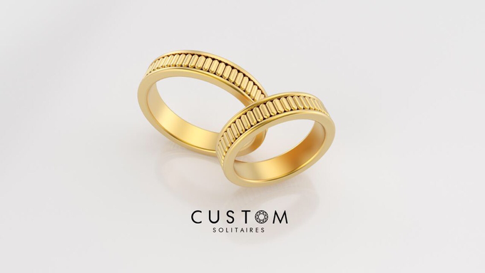 Wedding bands catalog his and hers by Custom Solitaires, LLC - 015