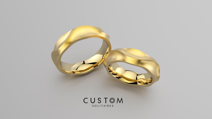 Wedding bands catalog his and hers by Custom Solitaires, LLC - 017