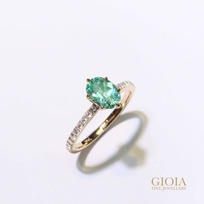 Customised Paraiba Engagement Ring by GIOIA FINE JEWELLERY - 001