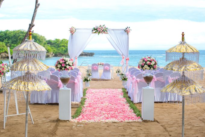 Wedding Ceremony Decoration by Courtyard by Marriott Bali Nusa Dua - 027