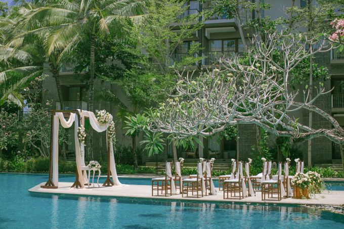 Wedding Ceremony Decoration by Courtyard by Marriott Bali Nusa Dua - 021
