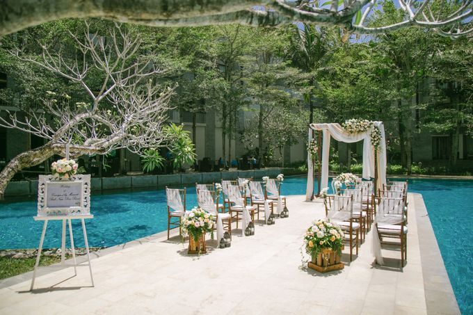 Wedding Ceremony Decoration by Courtyard by Marriott Bali Nusa Dua - 016