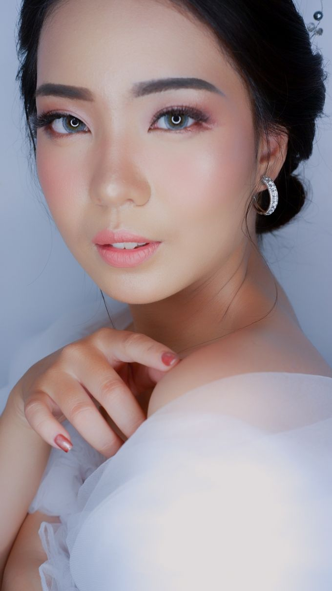 Bride Makeup and Hairdo by lely murwiki - 001