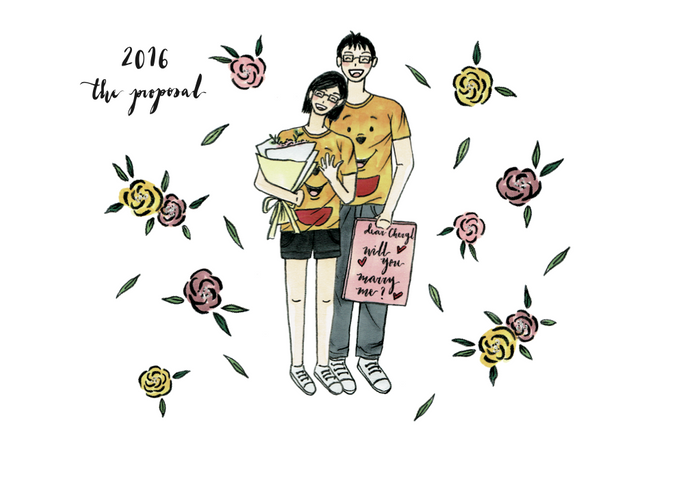 Love Story Illustrations | Samson & Cheryl by dora prints and paper goods - 010