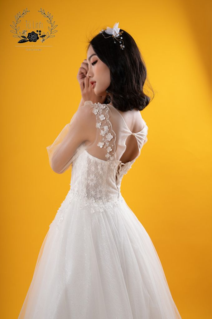 Hand Puffed Wedding Dress by Tu Linh Boutique - 005