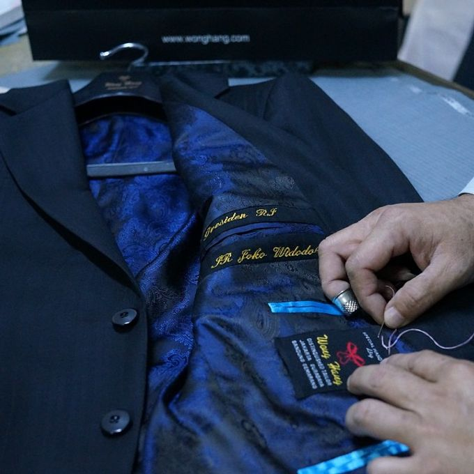Special Design Handmade Bespoke Sartorial Suits by Wong Hang For President Joko Widodo by Wong Hang Distinguished Tailor - 002