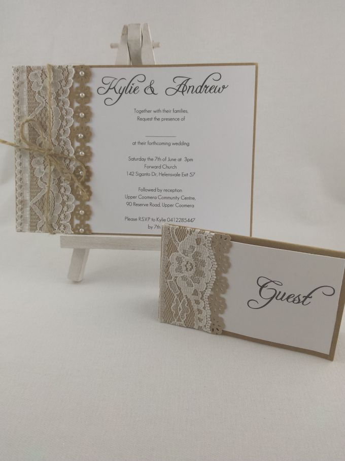 Kraft Lace Invites by Playing With Paper - 001