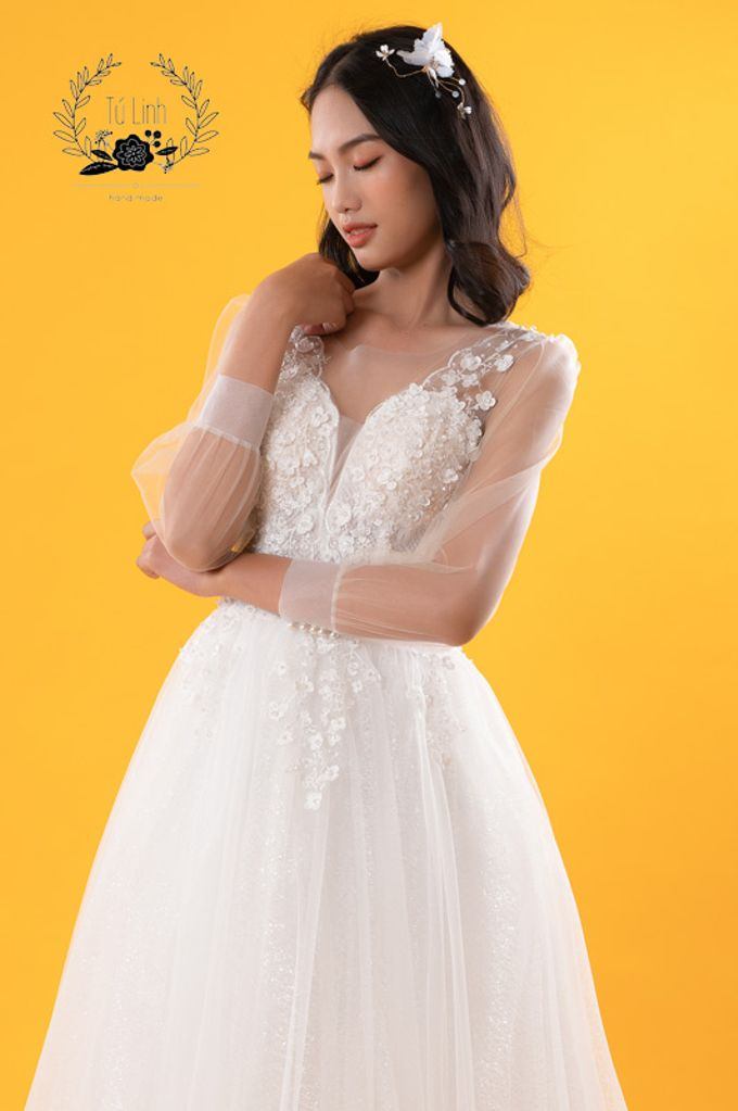 Hand Puffed Wedding Dress by Tu Linh Boutique - 007